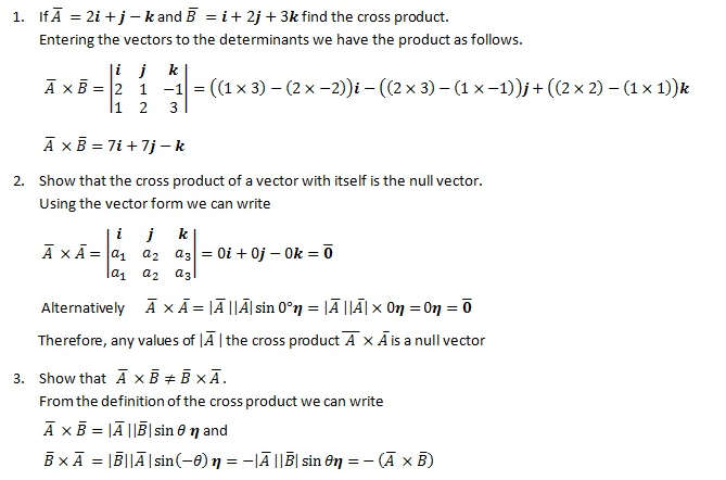 How to find the cross product Examples
