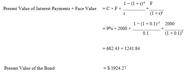 calculate present value of a bond 04