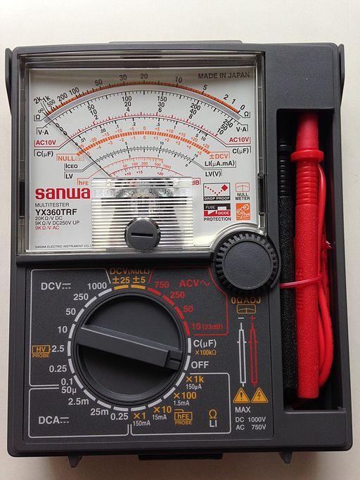 Analog Meter Needle : Difference between analog and digital multimeter
