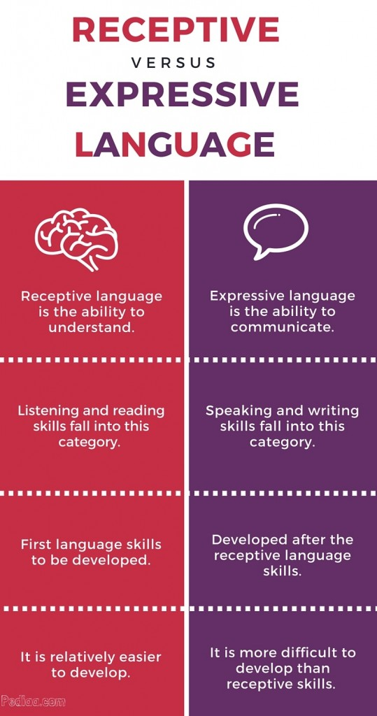 expressive language disorder Expressive language difficulties may impact on the students' abilities in relation to writing, spelling, composing sentences/compositions and answering all but the most straightforward of questions.