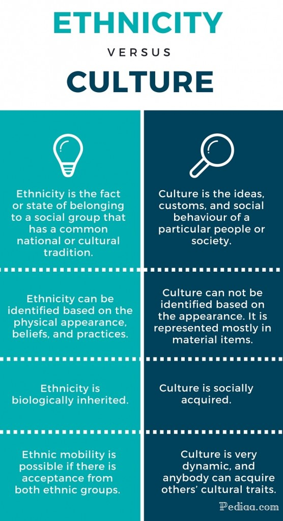 Difference Between Ethnicity and Culture - infographic