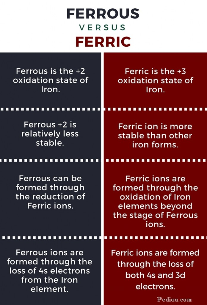 Difference Between Ferrous and Ferric-infographic
