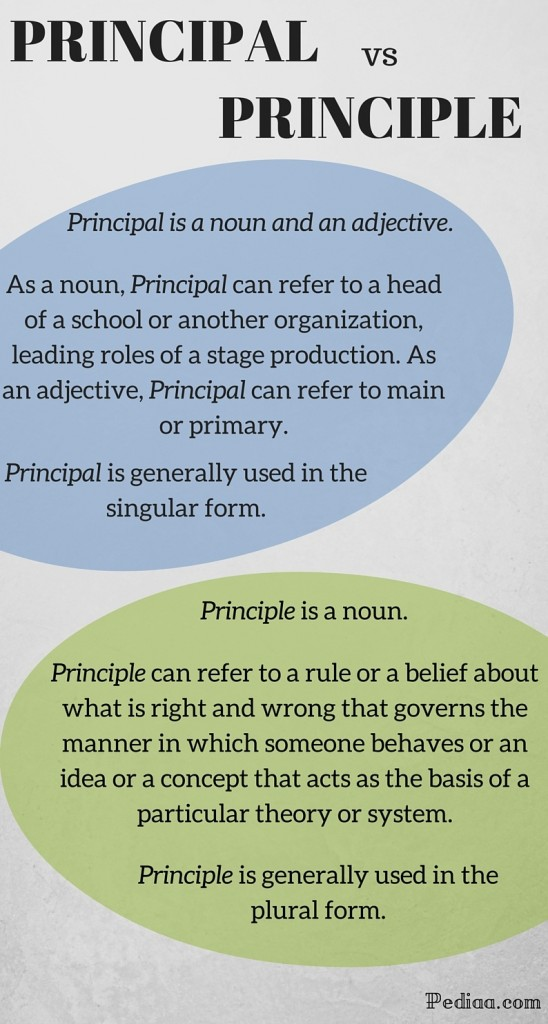 Difference Between Principal and Principle - INFOGRAPHIC