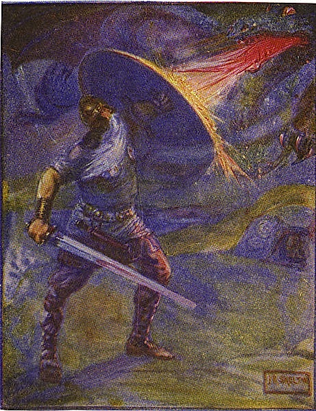 an analysis of the character of unferth the martyr in the epic poem beowulf
