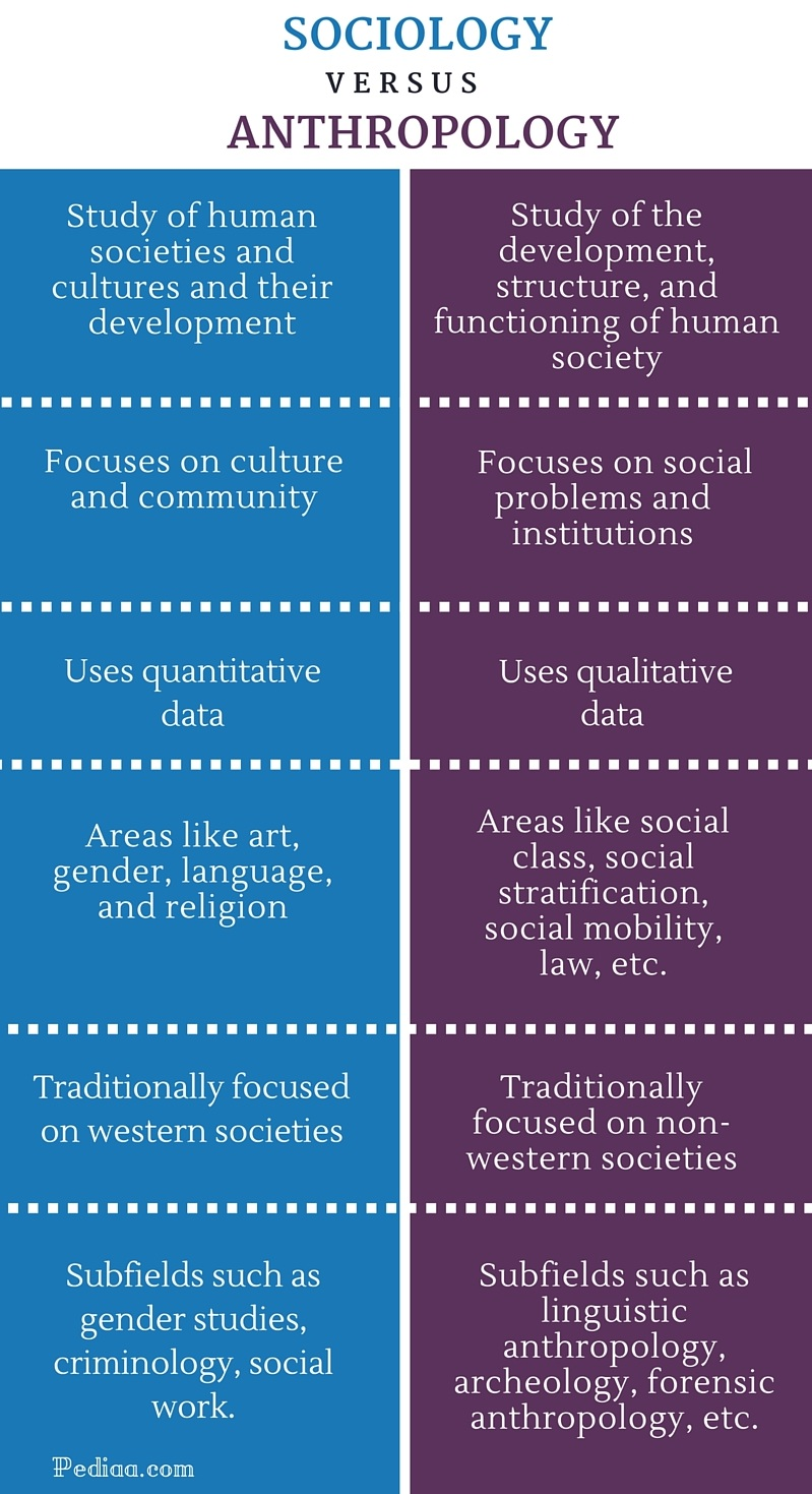 Difference Between Sociology and Anthropology- infographic
