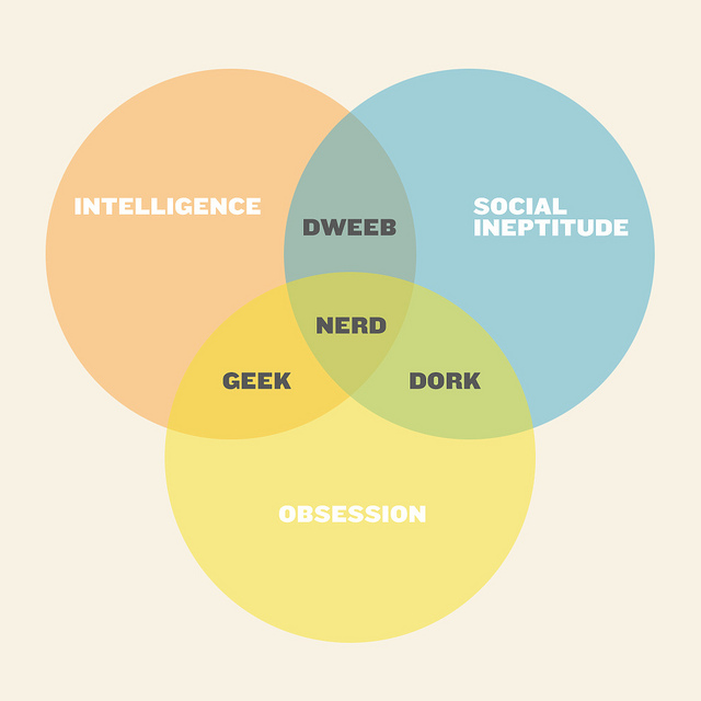 difference between nerd and geek