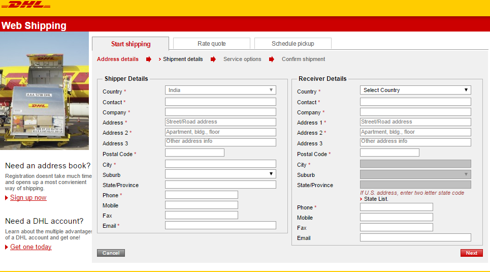 How to DHL a Package   Step by Step Guidelines