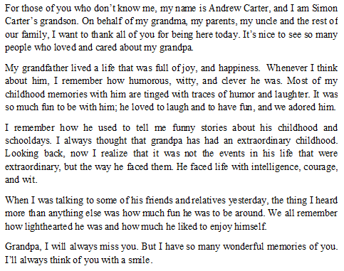 How to Write a Tribute to My Grandfather - Tips and Sample ...