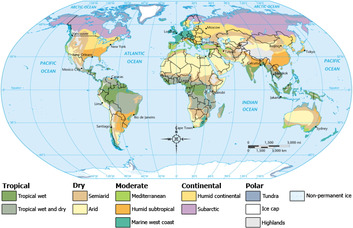 What are the Different Types of Maps - climate map