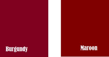 Difference Between Maroon and Burgundy
