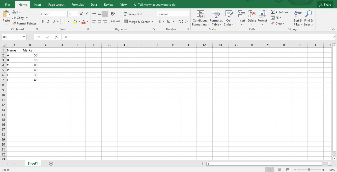How to Plot Graph in Excel -4
