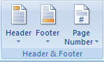 Difference Between Header and Footer - Step 1