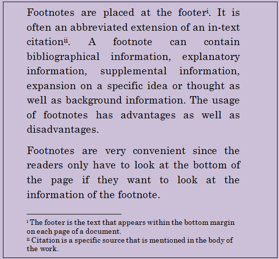 writing footnotes If you are writing a fiction book and using footnotes like this, it will fall flat you see, footnotes in fiction should add to the story.