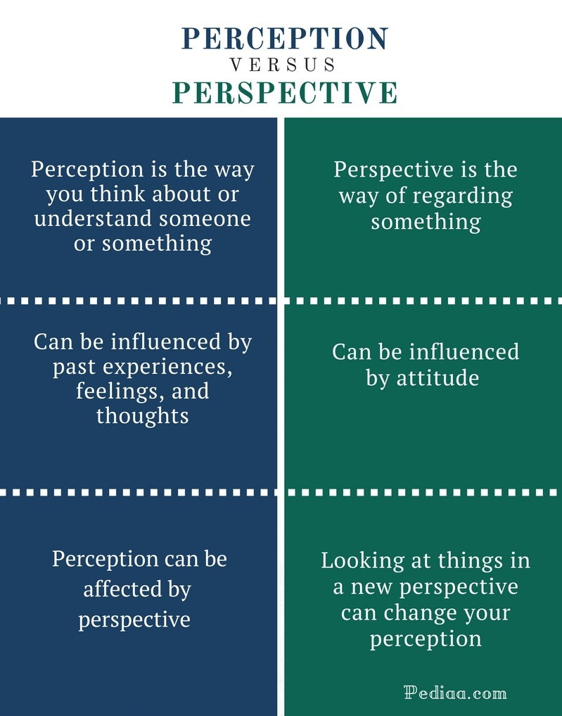Difference Between Perception and Perspective - Perception vs Perspective Comparison Summary