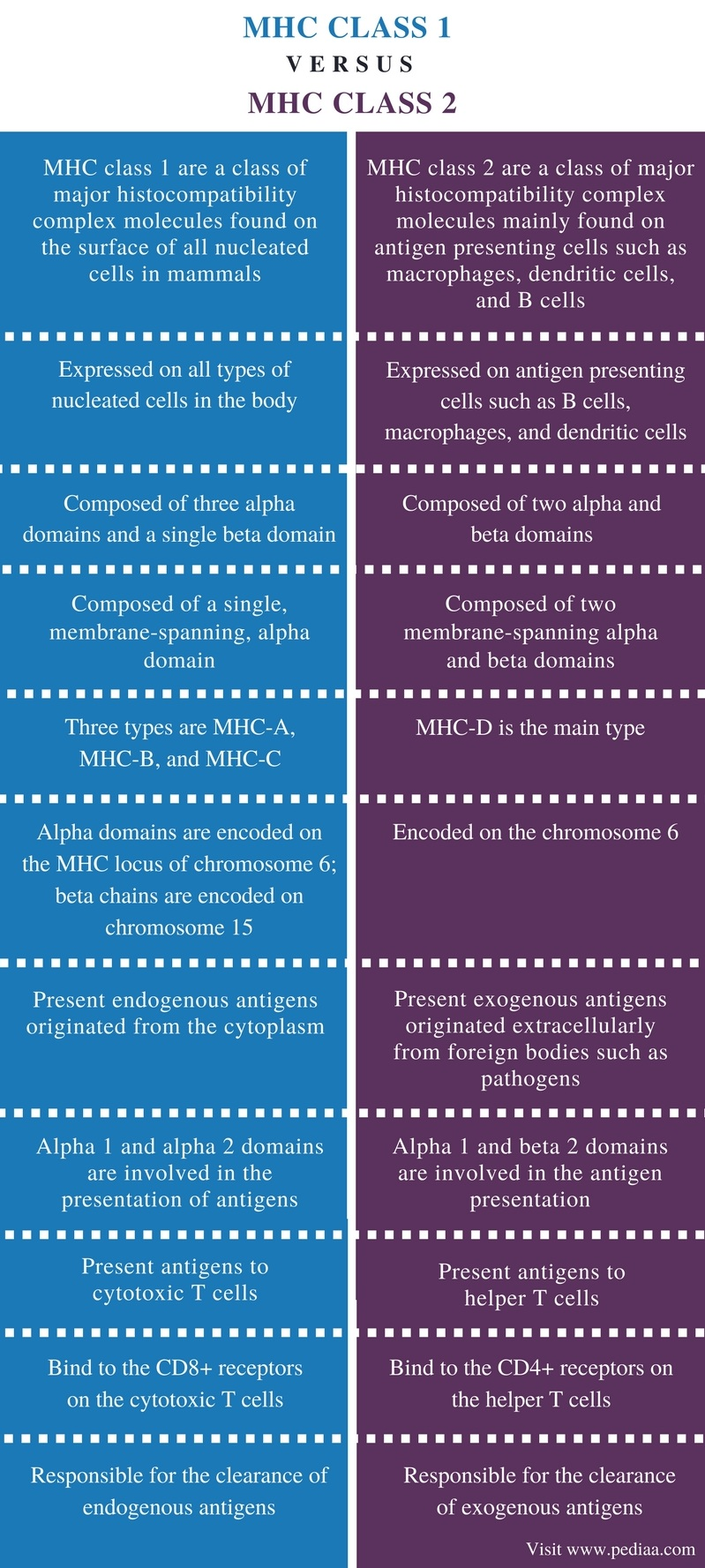 Difference Between MHC Class 1 and 2 | Definition, Structure