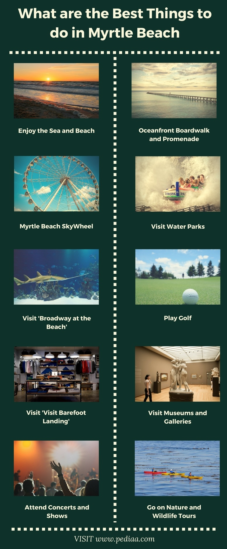 What are the Best Things to do in Myrtle Beach - Infographic