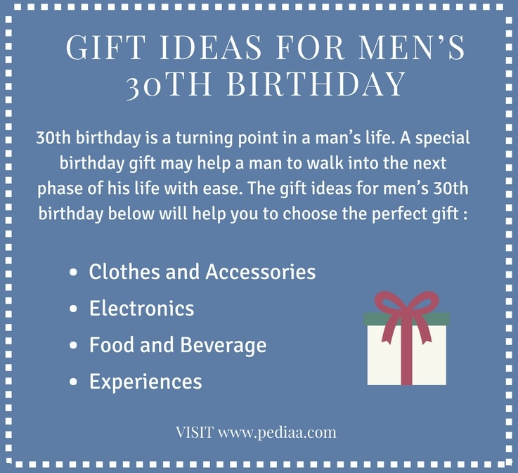 Gift Ideas For Mens 30th Birthday