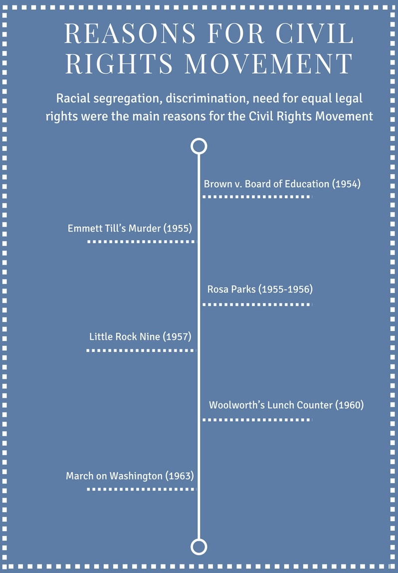 Reasons for Civil Rights Movement - Infograph