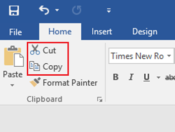 Main Difference -  Cut vs  Copy