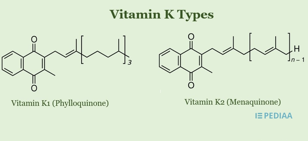 Main Difference - Vitamin K vs K2