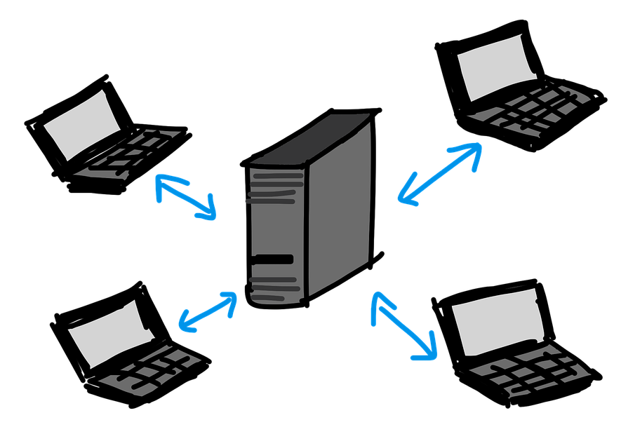 peer to peer vs client servers Both peer-to-peer and client-server networks connect computers so that resources like files and applications can be shared peer-to-peer.