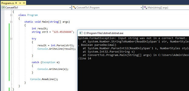 Difference Between int Parse and Convert ToInt32 in C#_Figure 3