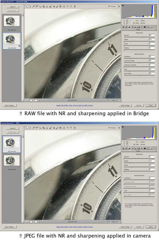 Difference Between RAW and JPEG