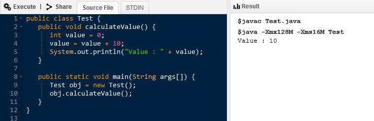 Main DIfference - Instance Variable vs Local Variable