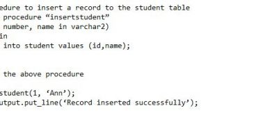 Difference Between Procedure and Function in Oracle