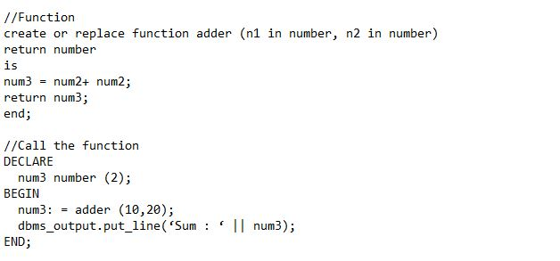 Main Difference - Procedure vs Function in Oracle