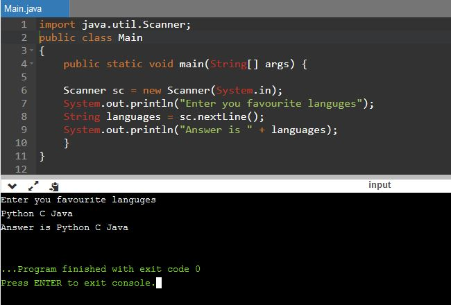 Main Difference - next vs nextLine in Java