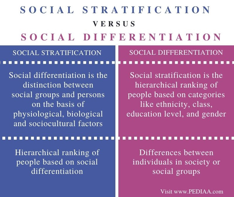Difference Between Social Stratification and Social Differentiation - Comparison Summary