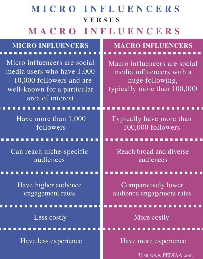 Difference Between Micro and Macro Influencers