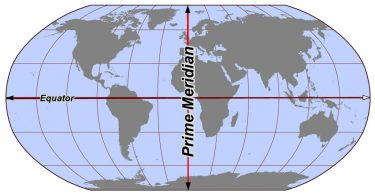 Difference Between Equator and Prime Meridian