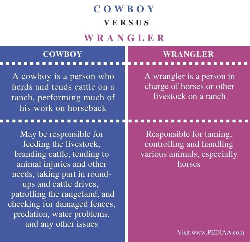 Difference Between Cowboy and Wrangler - Comparison Summary