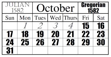 Difference Between Julian and Gregorian Calendars