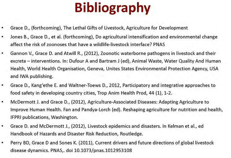 Compare Bibliography and References