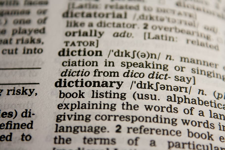Glossary vs Dictionary